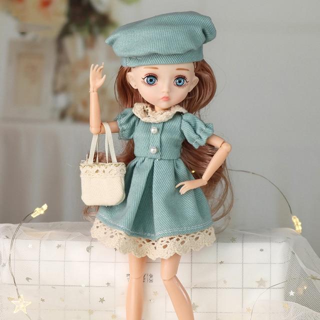 Adollya 1/6 BJD Movable Joints Mini Dolls For Girls BJD Doll Full Set Princess Female Body BJD Accessories Kawaii Toys For Girls 4