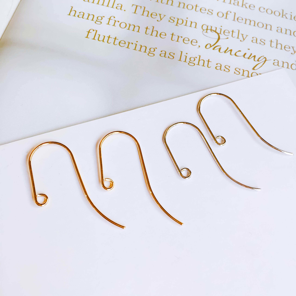 Real Gold Silver Color Plated Earring Hooks Back Ear Base Supplies For Jewelry Finding Accessories Diy Handmade Material 10pcs