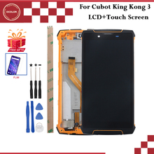 "Ocolor ل Cubot الملك كونغ 3 شاشة الكريستال السائل وشاشة تعمل باللمس مع الإطار 5.5 ""ل Cubot الملك كونغ 3 ملحقات الهاتف أدوات فيلم"