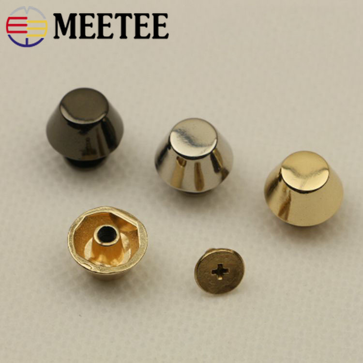 Meetee 10/20pcs 13mm <font><b>15mm</b></font> Rivet Screw Bags Hardware Decorative Studs Button Nail Rivet Metal <font><b>Buckles</b></font> DIY Leather Craft image
