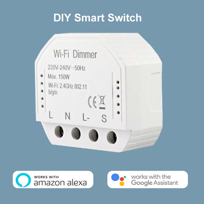 2020 New Smart WiFi Light LED Dimmer Switch Module 1/2Way Switch Smart Home Automation Compatible With Alexa Google Home