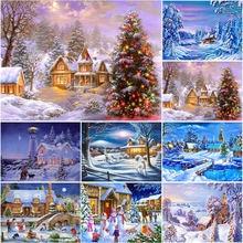 Winter snow scenery diy 5d diamond painting full round drill