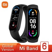 Xiaomi-pulsera inteligente Mi Band 6 versión Global, reloj con Pantalla AMOLED de 1,56 pulgadas, monitor de ritmo cardíaco, Fitness, Bluetooth, resistente al agua hasta 5atm