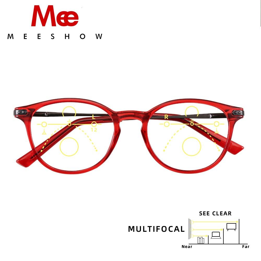 Meeshow Multifocal Reading Glasses Elegant Retro Europe Style Women Glasses  Eyeglasses Lesebrillen +2000.2000 +2000.2000 +200.200 +200.2000 200093200