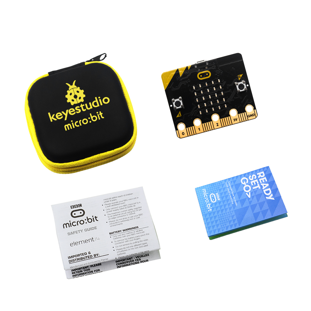 Original BBC Micro:Bit Main Board NRF51822 With Keyestudio Customized Storage Bag For Kids Programming/support Windows,iOS Etc