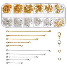 METABLE 20 Pieces Chain Extenders Necklace Bracelet Sets Lobster Clasps and Closures for DIY Jewelry Making