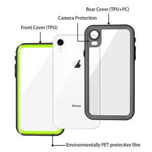 Image 5 - IP68 עמיד למים טלפון מקרה עבור Apple iPhone 11 X XR XS מקסימום מתחת למים מקרה ברור כיסוי עבור iPhone 6 7 8 בתוספת מים הוכחת מקרה