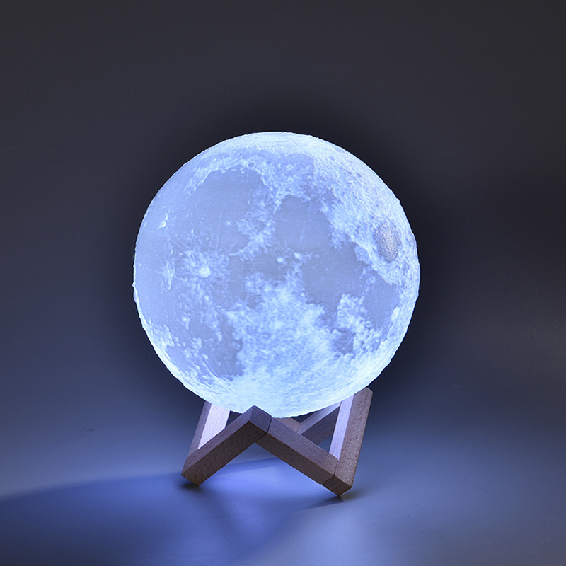 Luna Moon Lamp Night Light 3D Print Moon Light LED Dimmable Touch Switch Remote Rechargeable Bedside Lamp Table Desk Lamp