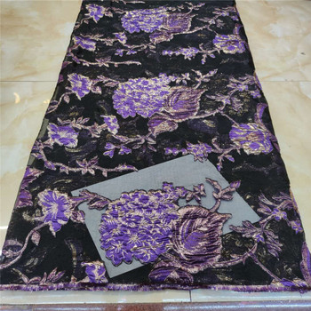 African Lace Fabric Purple High Quality Brocade Lace With Organza, Nigerian Lace fabrics For Wedding French Tulle Lace Fabric