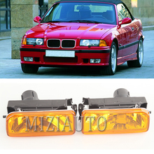 цена на 1 pair Car Fog Lights For BMW E36 1992 1993 1994 1995 1996 1997 1998 Fog Lamps Car-styling part number 63178357389 / 53178357390