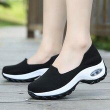 Nuevas zapatillas de deporte para mujer Zapatos de tacón medio zapatos informales transpirables de moda para mujer, zapatillas de deporte para mujer QH-B1905