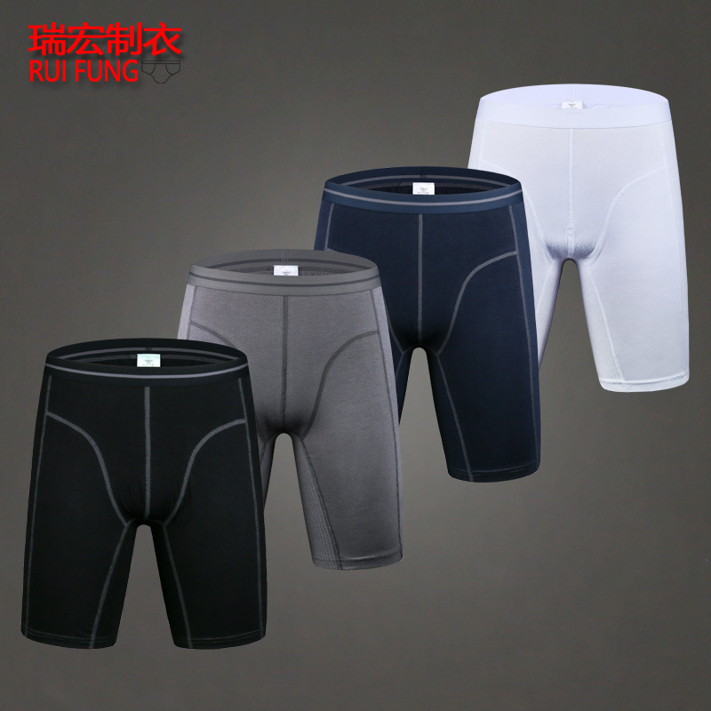 2pcs Lot Mens Winter Thick Underwear Boxers Shorts Casual Cotton Knee Length Men Long Leg Sport Boxer Man Thin Underpans