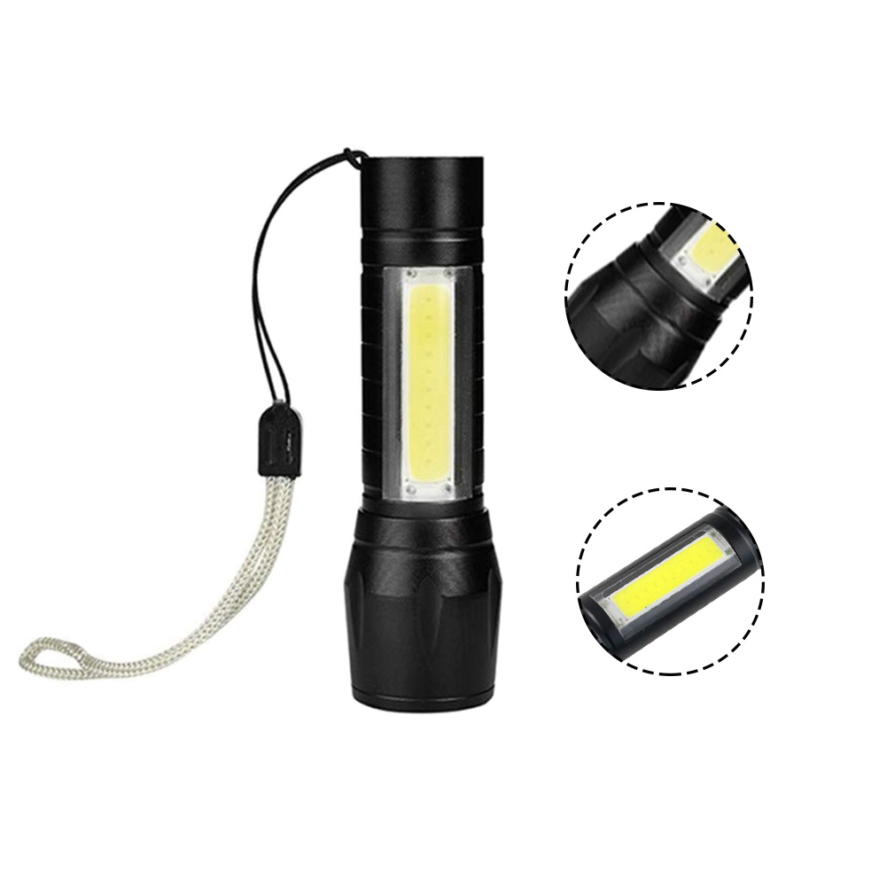 Meijuner Mini Flashlight COB Side Tactical Flashlight USB High Power Rechargeable LED Flashlights Outdoor Emergency Lamp B011