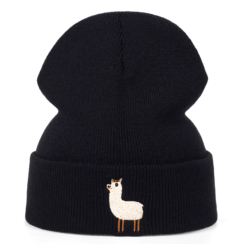 2019 New Alpaca Embroidery Wool Hat Fashion Outdoor Autumn And Winter Warm Hats Hip Hop Casual Sports Cap Wild Universal Caps