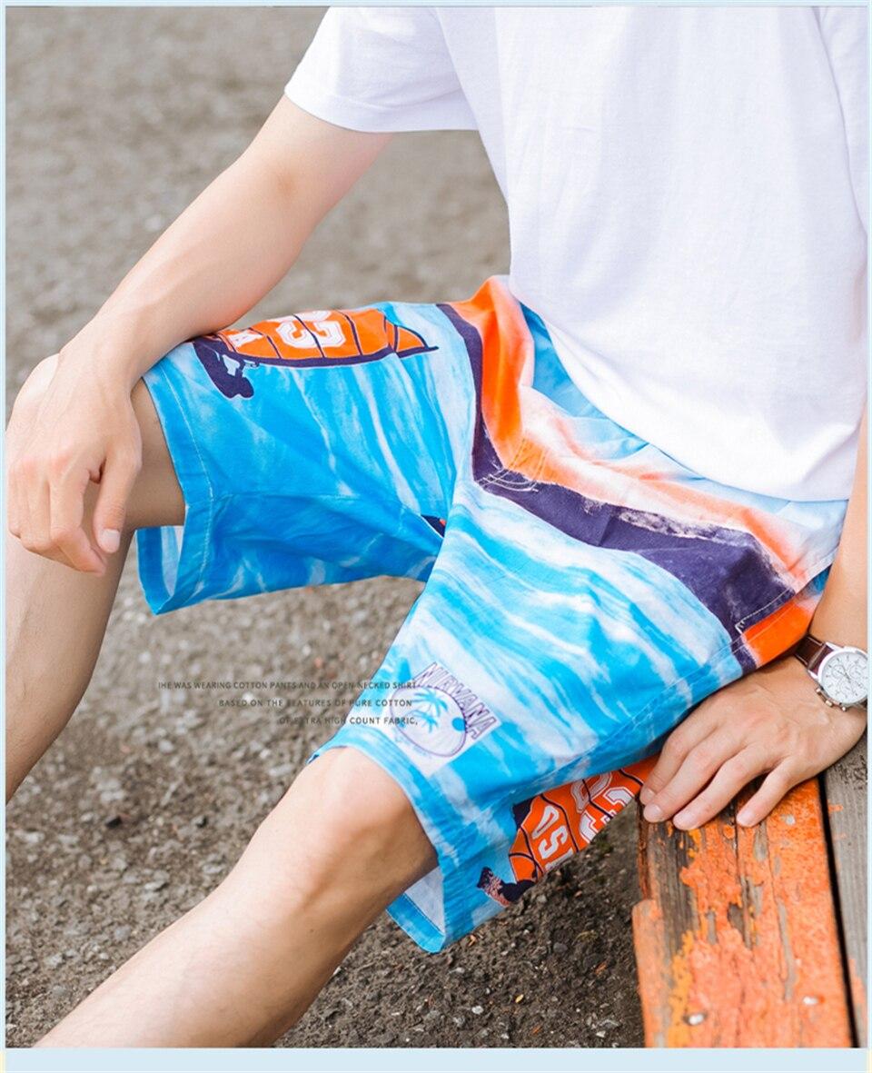 impressão praia board shorts de surf siwmwear