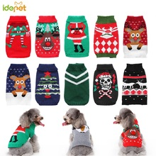 Cat Sweater Jacket Puppy Knit Christmas Winter Warm Cartoon Pet-Costume 35 Santa-Claus