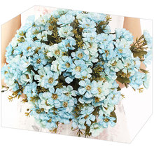 Home Party Supplies 18 Heads Cherry Blossoms Artificial Flowers DIY Wedding Decoration Gypsophila Bouquet Decor