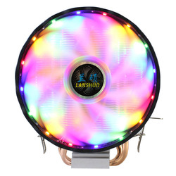 RGB LED CPU Cooler Fan 2 Heatpipe 12V 3Pin 120mm Fan Cooling Heat Sink Radiator for Intel LAG 1150 1155 1156 775 1366 for AMD