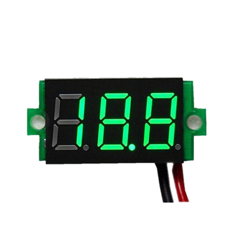Junejour New Digital Voltmeter LED Display Mini 2/3 Wires Voltage Meter Ammeter High Accuracy Red/Green/Blue DC 0V-30V 0.36