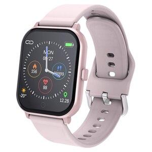 Image 1 - Inteligentny zegarek MKS5 zegarek do Fitness wodoodporny Bluetooth Sport tętno Tracker połączenie/wiadomość z przypomnieniem Smartwatch dla androida iOS