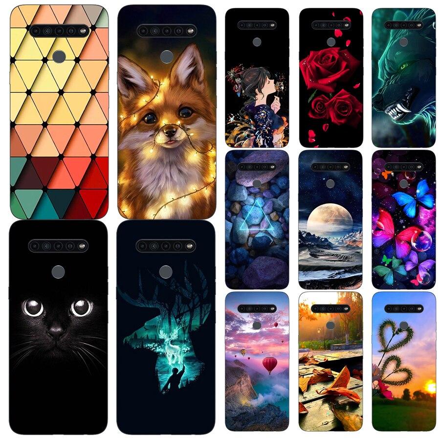 Cartoon Print Soft TPU Phone Case Cover For LG K41S K51S K51 K61 Q51 Q61 Q510 Stylo 6 Stylo6 V60 Thinq 5G Fundas Case Cover