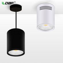 [DBF]LED Surface Mounted Ceiling Lamp with Wire Hanging 3W/5W/7W/10W/12W/15W White/Black AC85-265V Ceiling Spot Light Home Decor