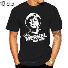 Меркель I Ангела Меркель политическая сатира политика высказывания слоган Веселая Футболка Винтажная Футболка