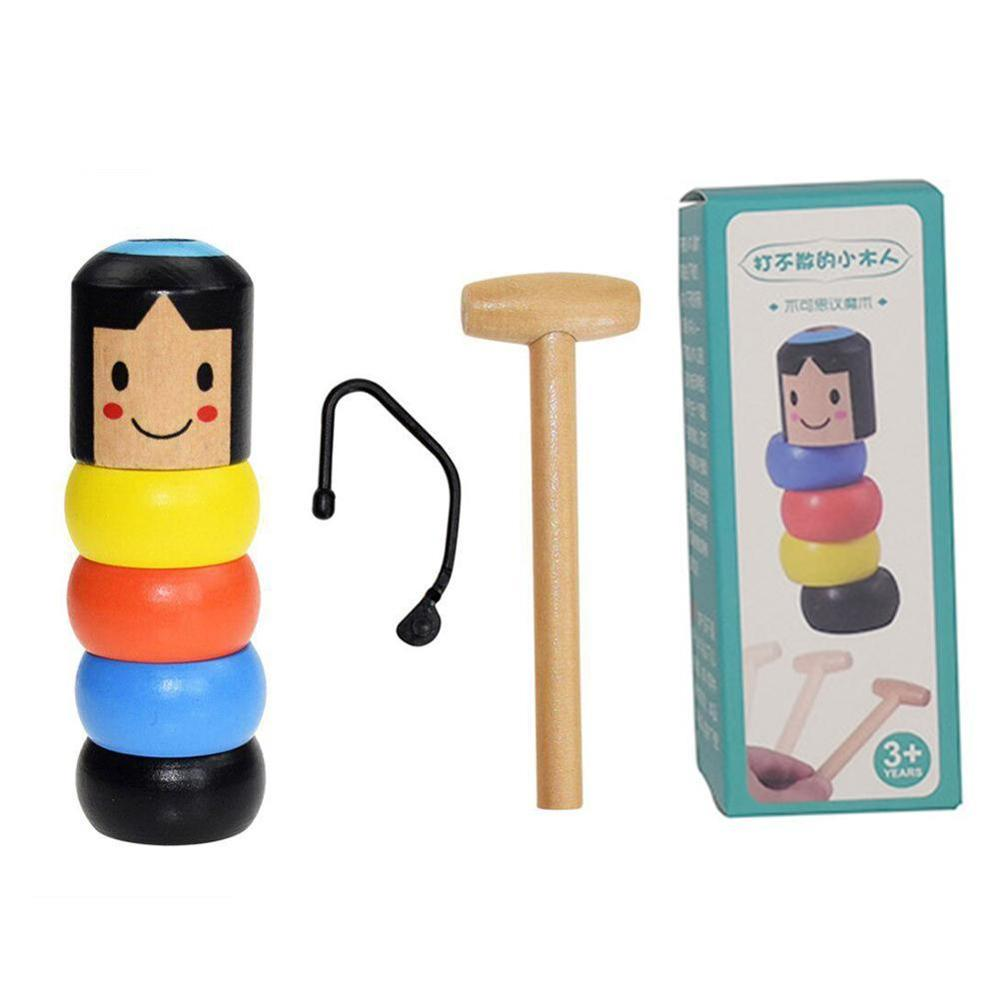 Stubborn Klaas Magic Toy Magic Tricks Close Up Stage Magic Props Comedy Mentalism Fun Toy Accessory Little Wooden Man