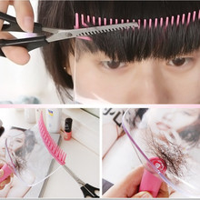 DIY New Women Hair Trimmer Fringe Cut Tool Clipper Comb Guide For Hairstyle 2 In 1 Hair Clips Accessories