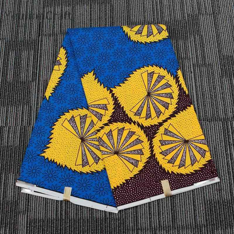 1Yard African Sunflower Fabric National Pattern Wax Printing DIY Clothing Sewing