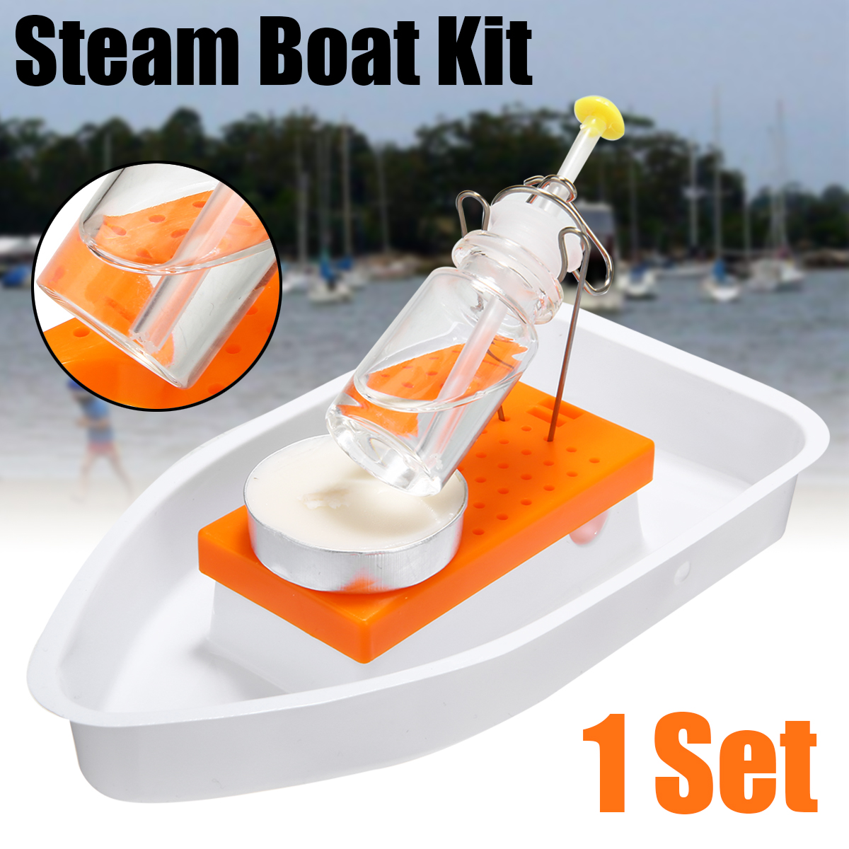 Steam Boat DIY Steam Boat Kit Candle Powered Steam Boat Toy Physics Science Experiment DIY Assembly Boat Building Kits