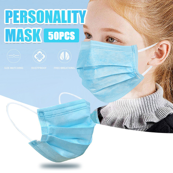 50/100/200 Pcs Children Disposable Face Masks Non Woven Anti-Dust Mouth Masks 3 Layers Ear Loop Mouth Mask Kids Mask In Stock!!! 50pcs children face mask planet printed kids masks disposable white face mask 3 layer non woven melt blown face mouth mask 04