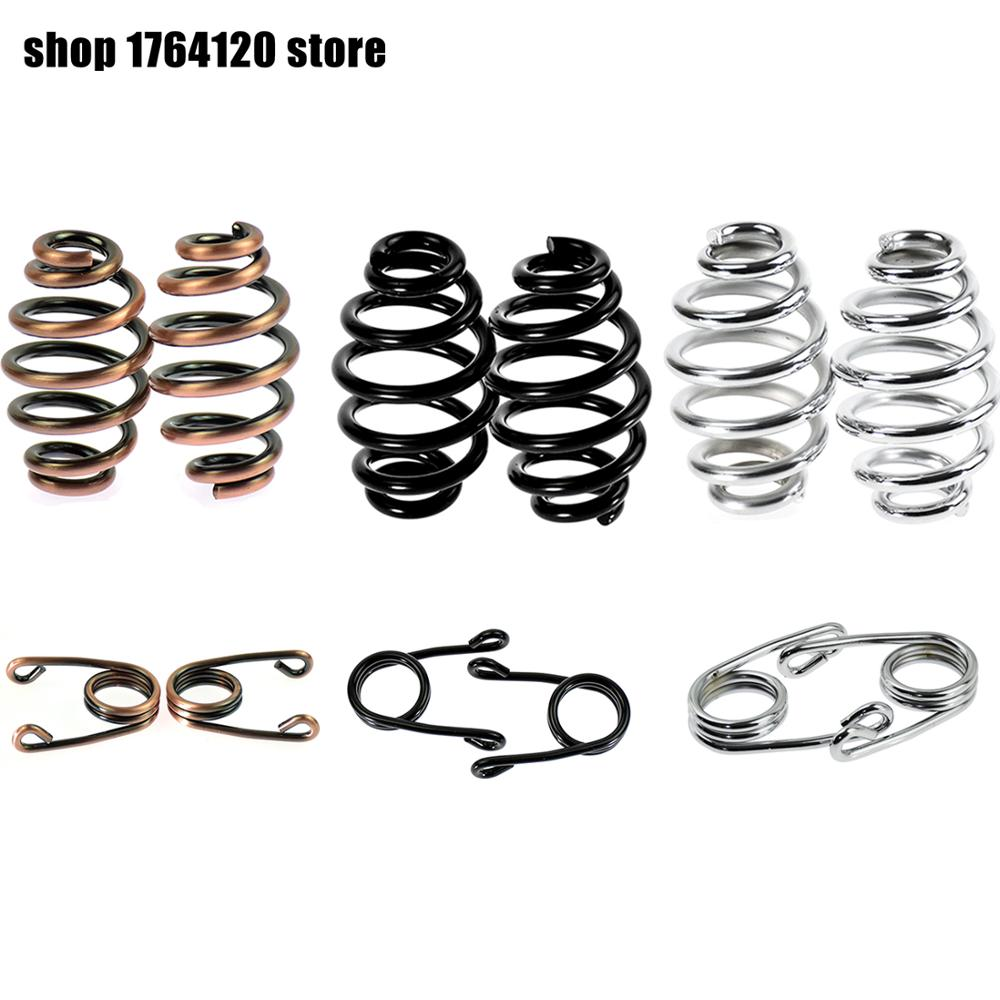 Motorcycle Torsion Solo Seat Springs Bronze/Black/Chrome For Harley Sportster XL 883 1200 Bobber Chopper Cafe Racer Custom