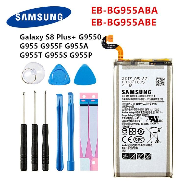 SAMSUNG Orginal EB-BG955ABA EB-BG955ABE 3500mAh Battery For Samsung Galaxy S8 Plus+ G9550 G955 G955F/A G955T G955S G955P +Tools
