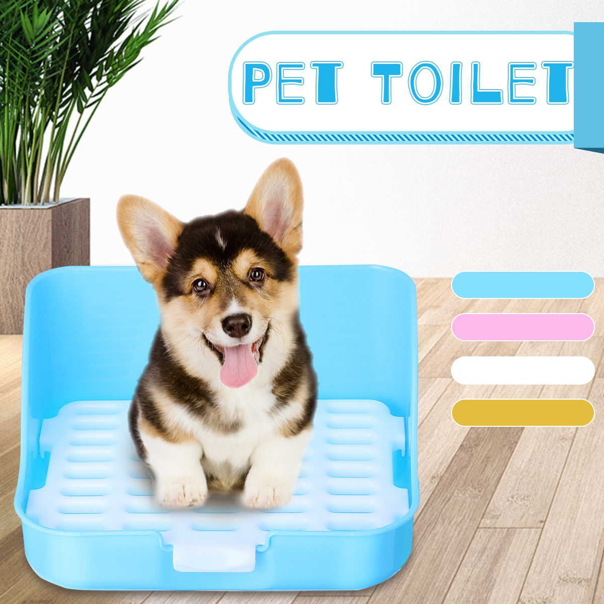 Dog Toilet Potty Pet Dogs Cat Puppy Rabbit Litter Box Training Toilet Tray Easy Clean Indoor Outdoor Home Pet Product Supplies