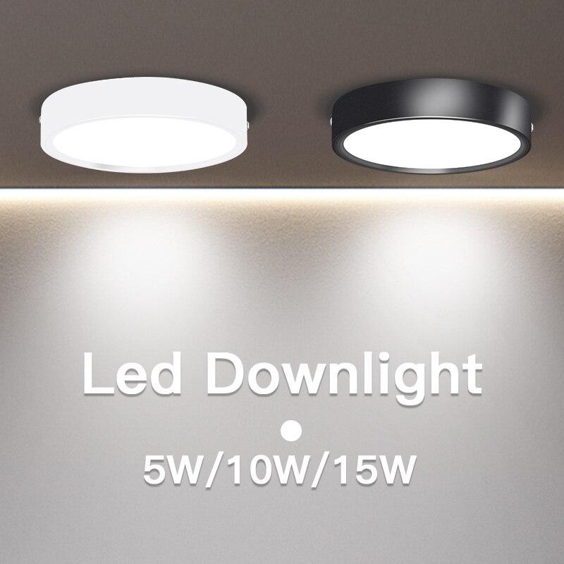 220V Led Downlight 5W 10W 15W Surface Mounted Light Bulb Ultra Thin Ceiling Light Lamp LED Spot Light For Living Room Bedroom