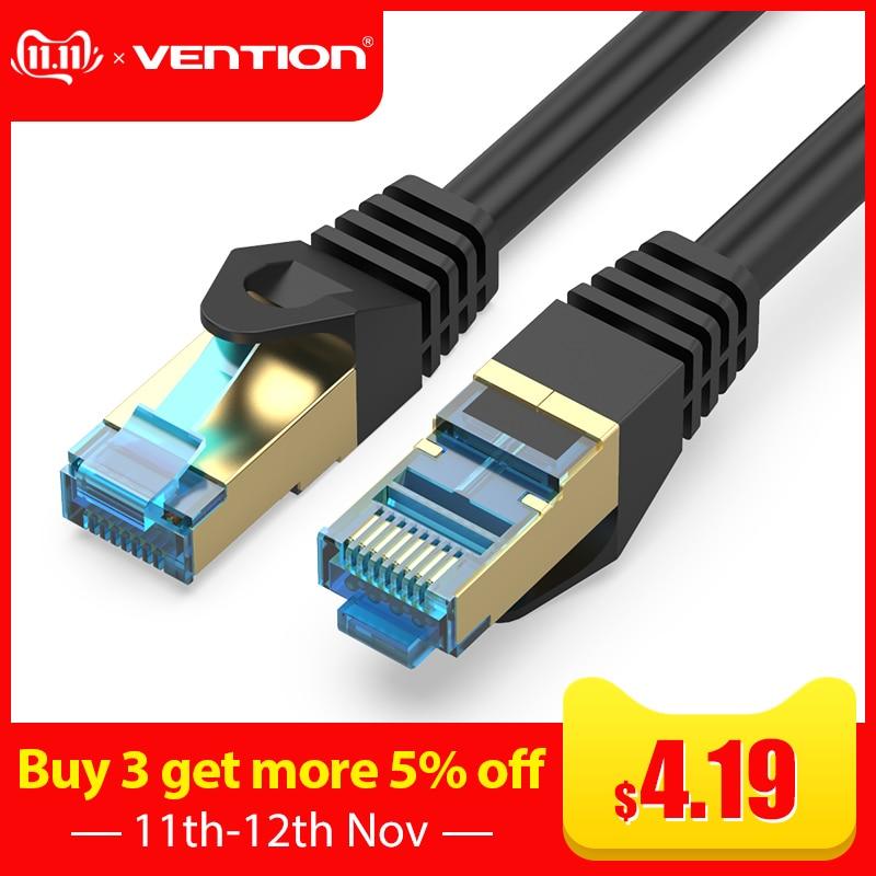 Vention Cat7 Ethernet Cable RJ45 10 Gigabit Network Lan Cable Rj45 Patch Cord 1m2m3m5m8m10m For PC Router Laptop Cable Ethernet