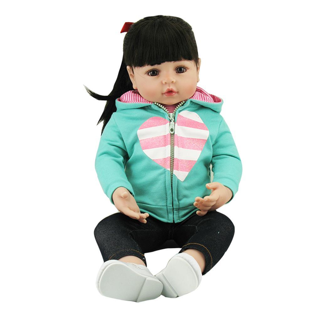 NPK Bebes reborn poupée 48cm bleu manteau réaliste Reborn bébé doux Silicone poupée accompagner jouet noël surprise cadeaux lol poupée