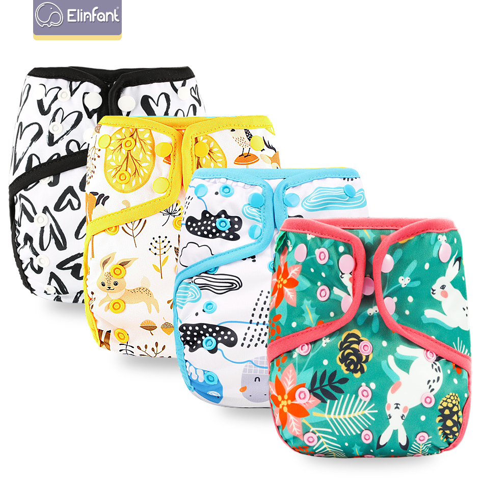 Elinfant Washable Cloth Baby Diaper Cover Pul Waterproof Adjustable Resuable Fit 8-35pounds Popular Baby Cloth Diaper