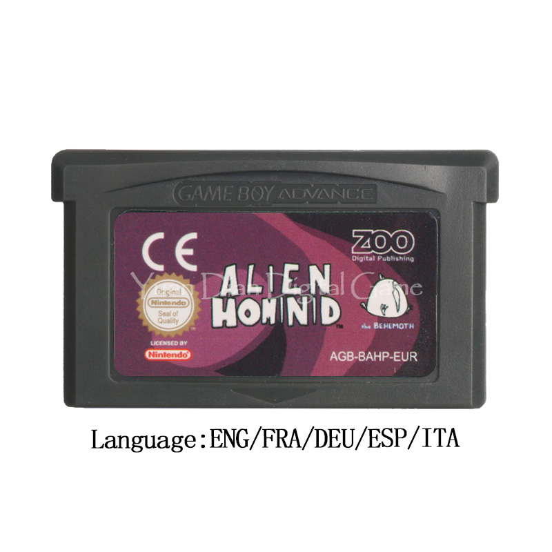 For Nintendo GBA Video Game Cartridge Console Card Alien Hominid EU Version