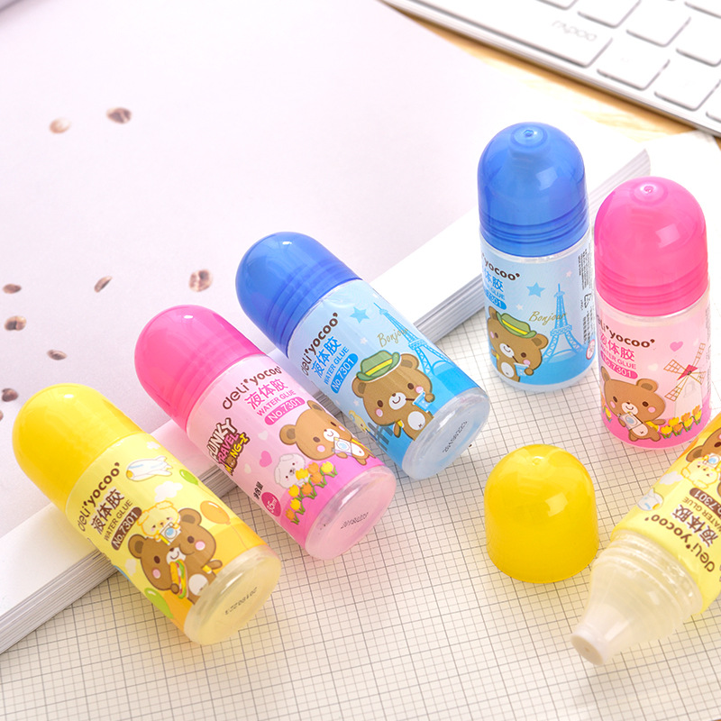 Deli 7301 Liquid Glue 35ml Mini Glue Cartoon Students Glue Handmade Glue