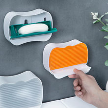 Soap Dish Paste Wall Mounted Soap Holder Toilet Storage Rack Punch-free Detachable Storage Disk Bathroom Accessories Soap Box