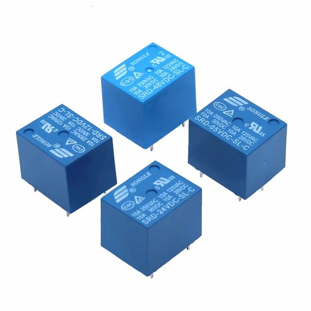 50pcs Relè SRD 12VDC SL C SRD 24VDC SL C SRD 05VDC SL C 12V 24V 48V 10A 250VAC 5PIN T73