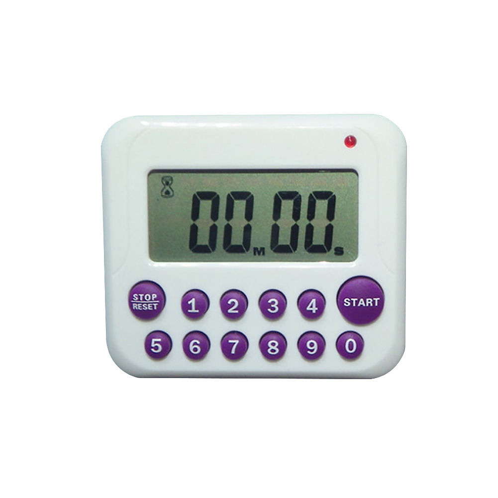 Desktop Stand Bracket Button Magnetic Digital LCD Screen Battery Powered Kitchen Timer Easy Operate Counts Down Up Cooking Clock