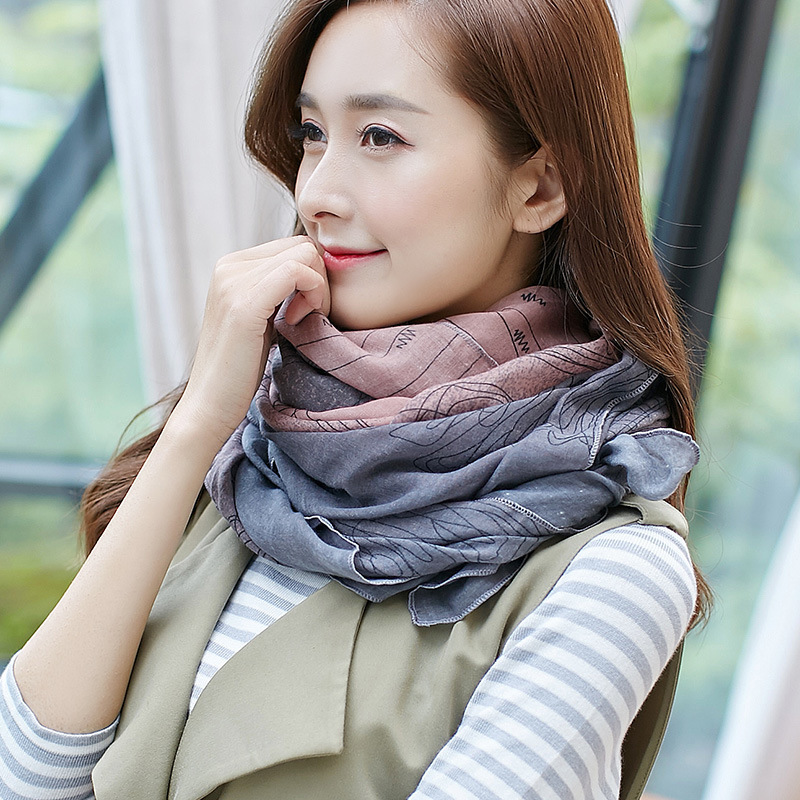 2019 Autumn New Female Patchwork Cotton Linen Scarf Women Scarves Wide Wrap Blanket Warm Tippet Casual Soft Lady Long Shawl