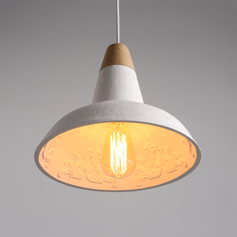 Creative Hanging lamp industry loft cement Chandelier Restaurant cafe light Stairway dining room living room aisle pendant lamp in Pendant Lights from Lights Lighting