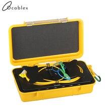 Бесплатная доставка, 500 м/1 км/2 км, кабельный ящик для запуска OTDR SM 1310/1550nm FC/LC/SC/ST UPC/APC OTDR, кабельный ящик для мертвых зон