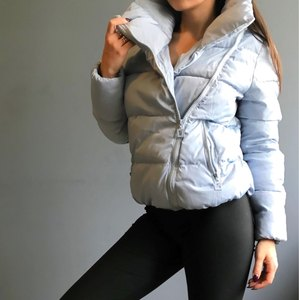 Image 2 - 女性ショートジャケットパーカー Mujer 2019 冬のジャケットコートファッション秋固体暖かいカジュアル詰めダウンパーカー女性のコートの女性