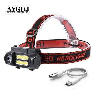 Mini COB LED Headlight Headlam