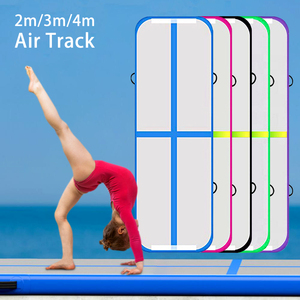2m 3m 4m Air Track Inflatable Gymnastics Mat 6.5' 9.8' 13' Tumbling Mat Airtrack Home Use Gymnastics Training, Ship from EU & US